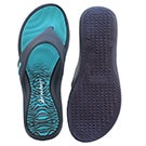 Sandale tong ISLAND VII, bleu, femmes