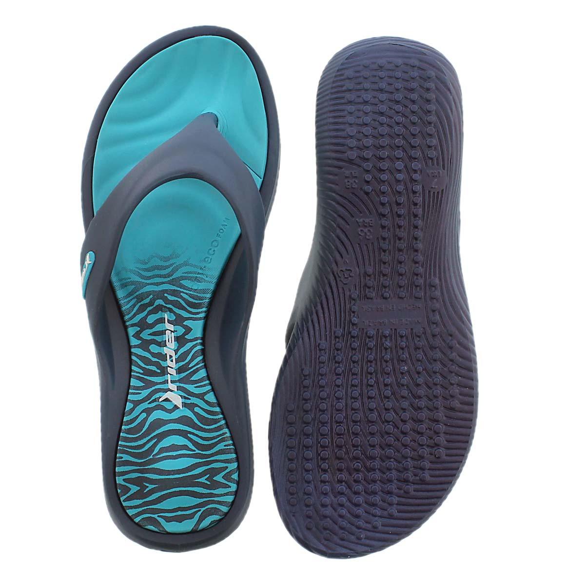 Lds Island VII blue thong sport sandal