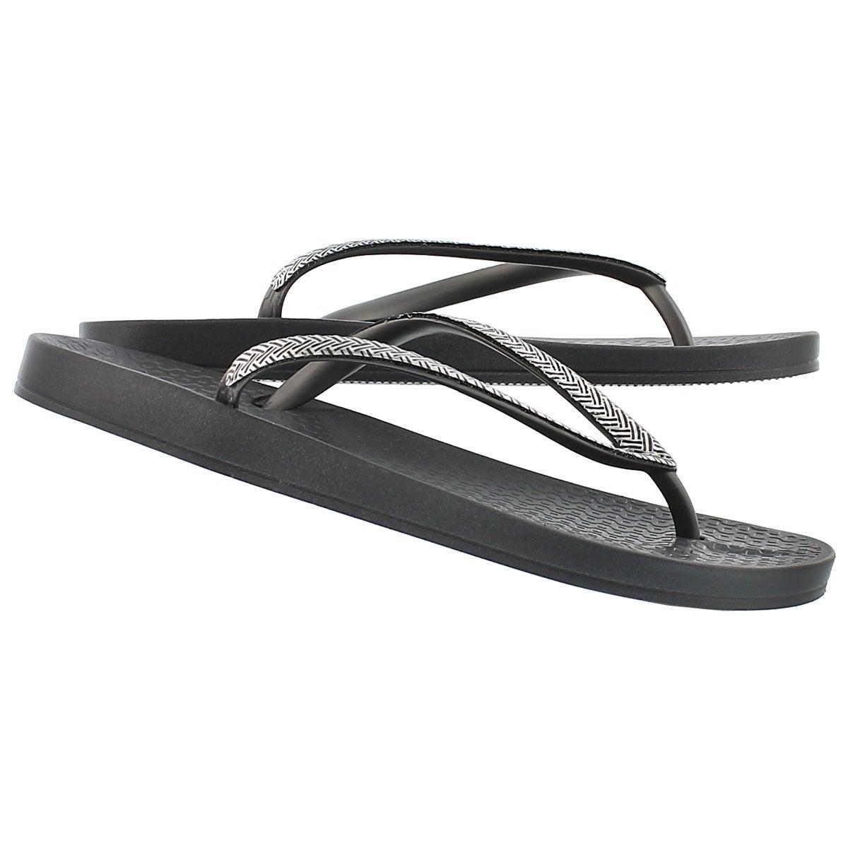 Sandale tong MESH FEM, gris/arg, fem