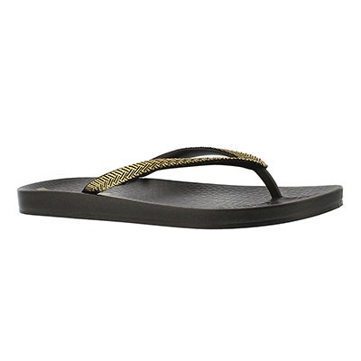 Ipanema Women's MESH FEM black/gold flip flops