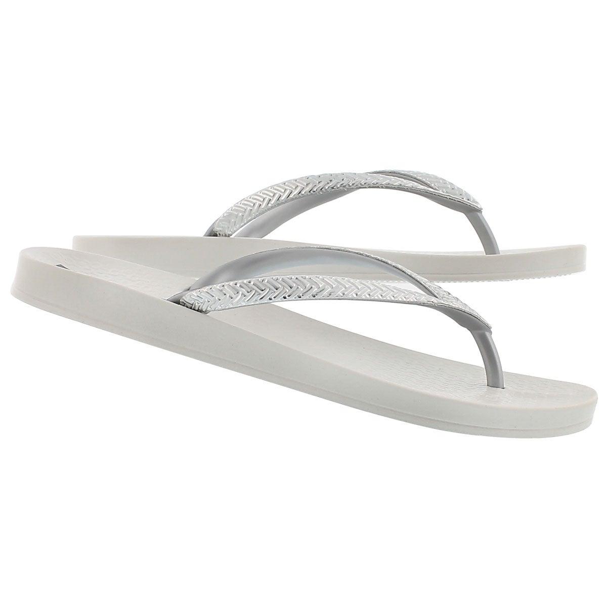 Sandale tong MESH FEM, blanc/arg, femmes