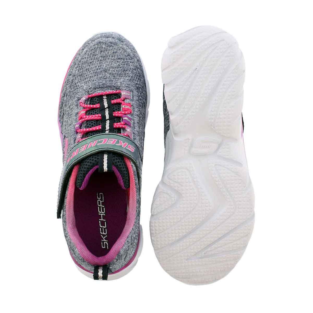 Grls Swirly Girl navy/pnk sneaker