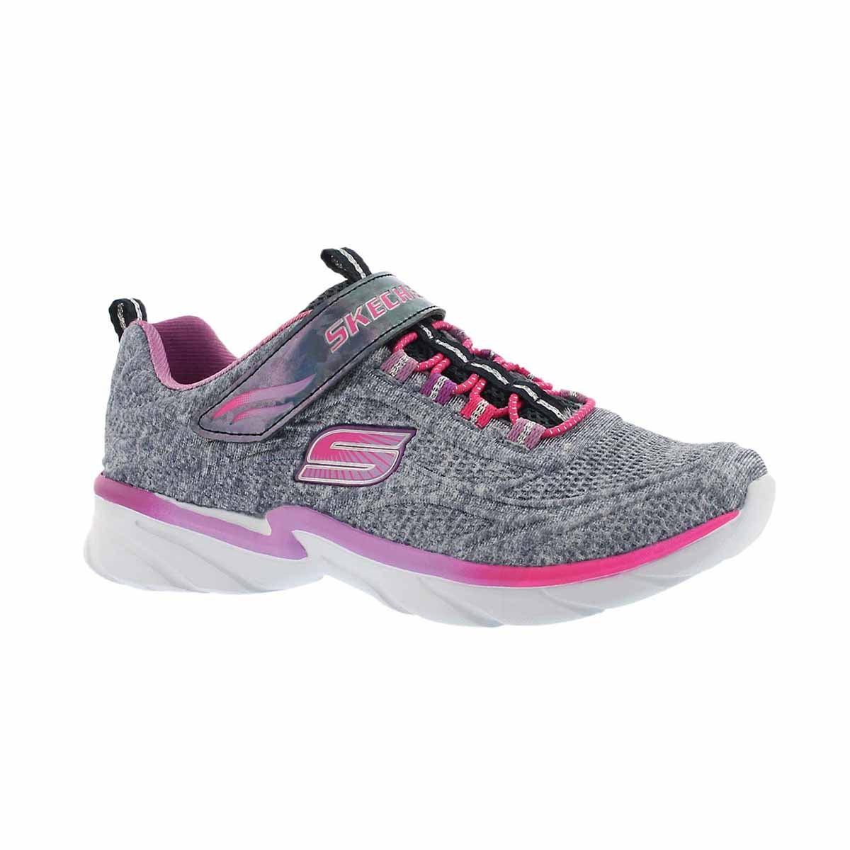 Girls' SWIRLY GIRL navy/pink sneakers