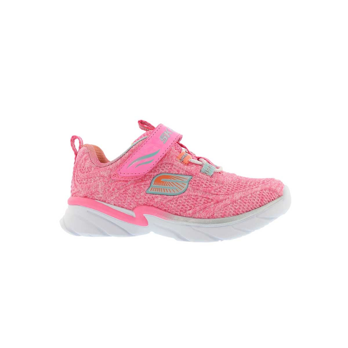 Inf-g Swirly Girl pink/silver sneaker