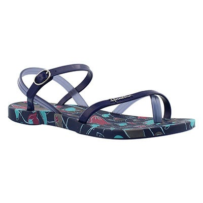 Ipanema Women's SAND blue printed toe loop flip flops