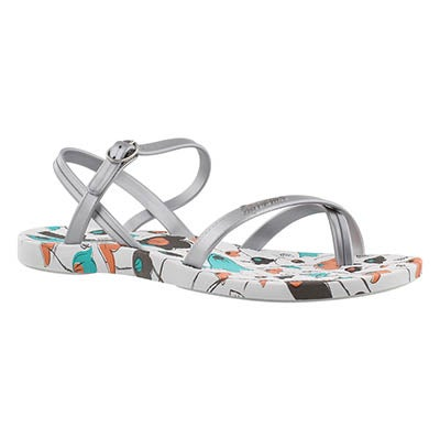 Ipanema Women's SAND white printed toe loop flip flops