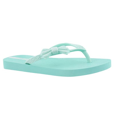 Ipanema Girls' LOLITA III green bow detail flip flops