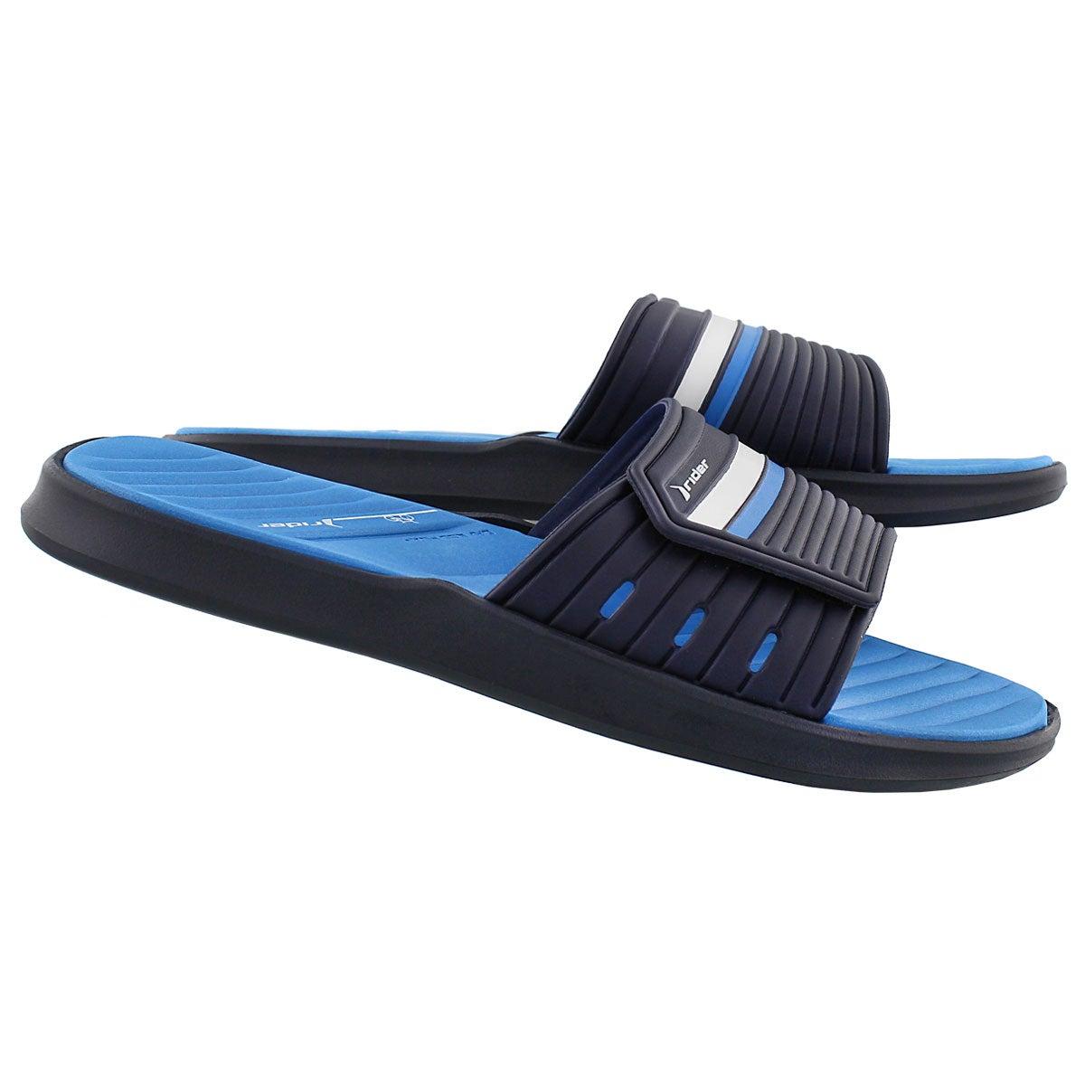 Mns Rail black/blue slide sport sandal