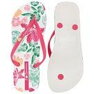 Lds Paraiso wht/pnk printed flip flop