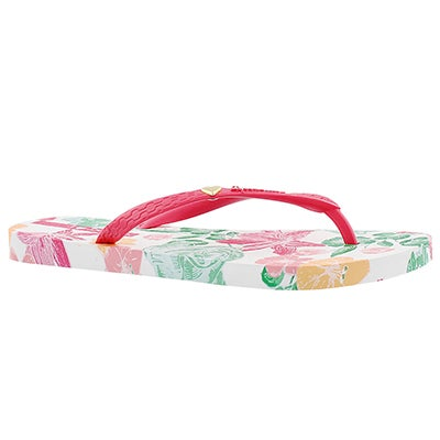 Ipanema Women's PARAISO white/pink printed flip flops
