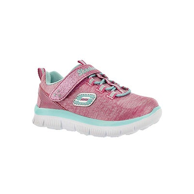 Inf Sparktacular pink/aqua running shoe