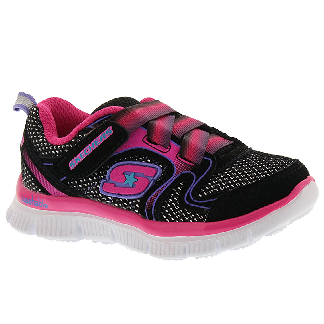 Infants' SKECH APPEAL black/pink sneakers