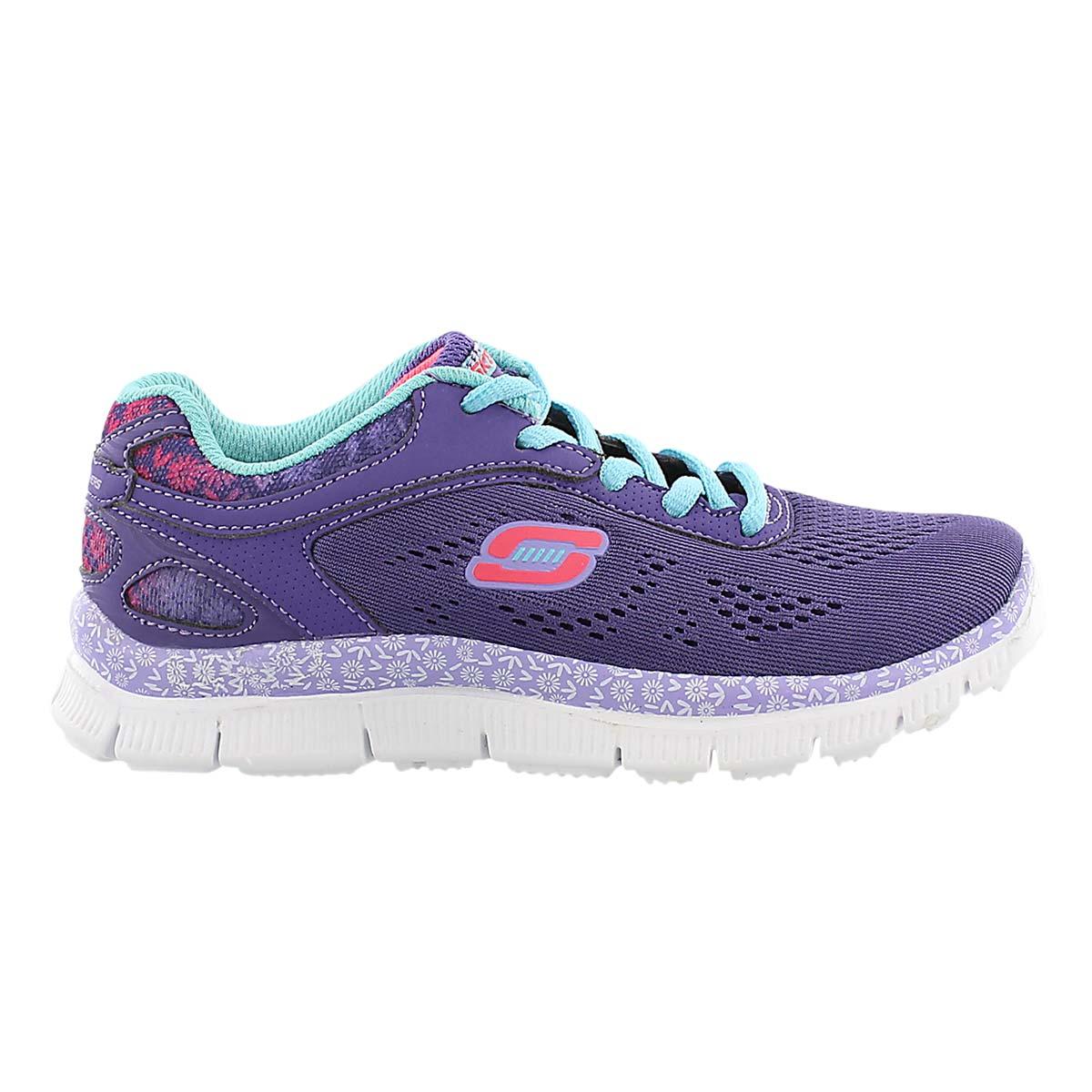 Grls Island Style purple lace up sneaker