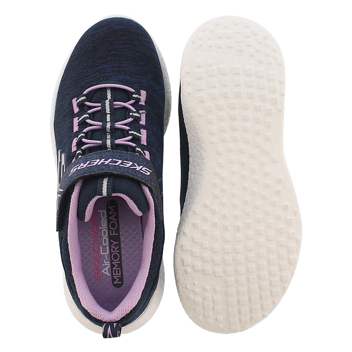 Grls Burst Equinox nvy/lav running shoe