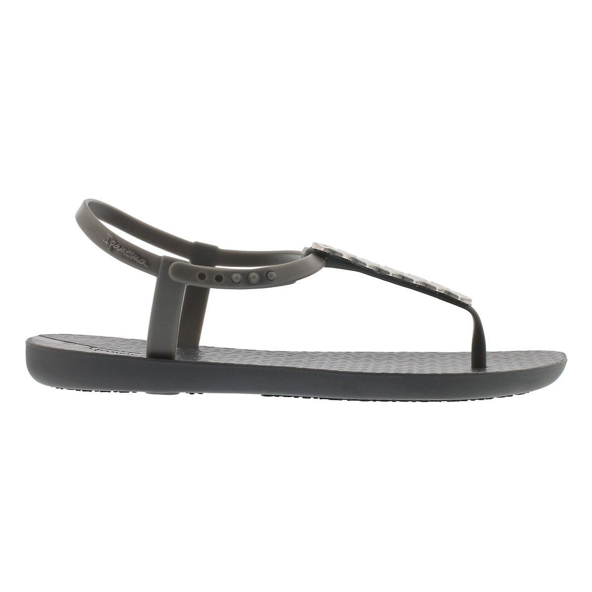 Lds Charm IV Sand grey t-strap sandal