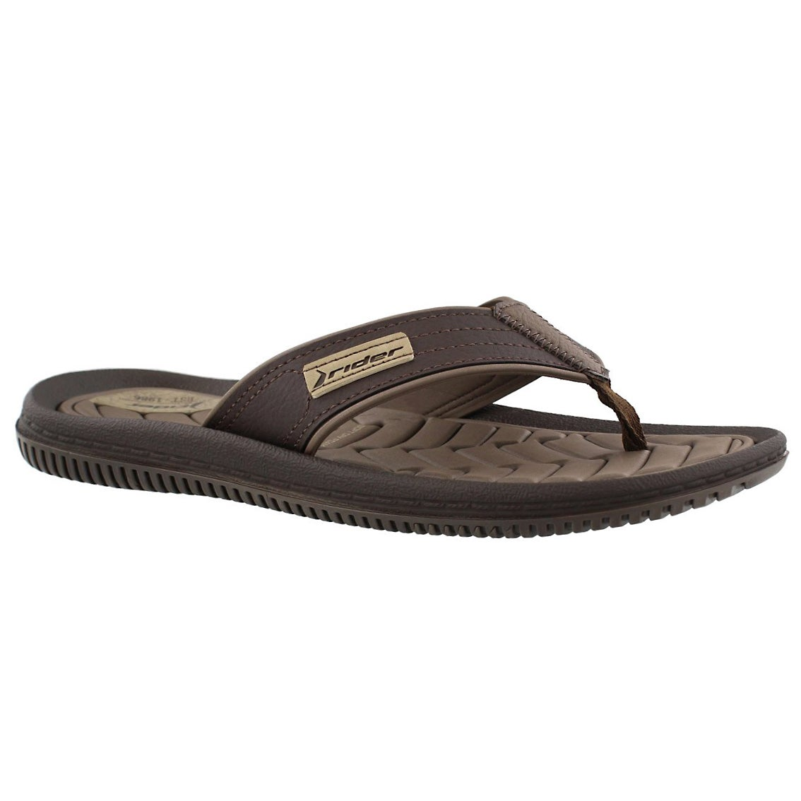 Mns Dunas XIII brown thong sandal
