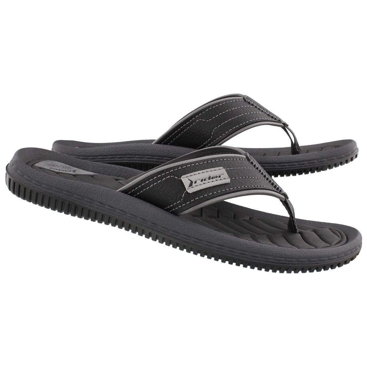 Mns Dunas XIII blk/blk thong sandal