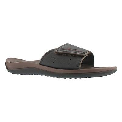 Mns Dunas Evolution brn/blk slide sandal