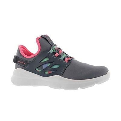 Grls Street Squad gry/mlt slipon sneaker