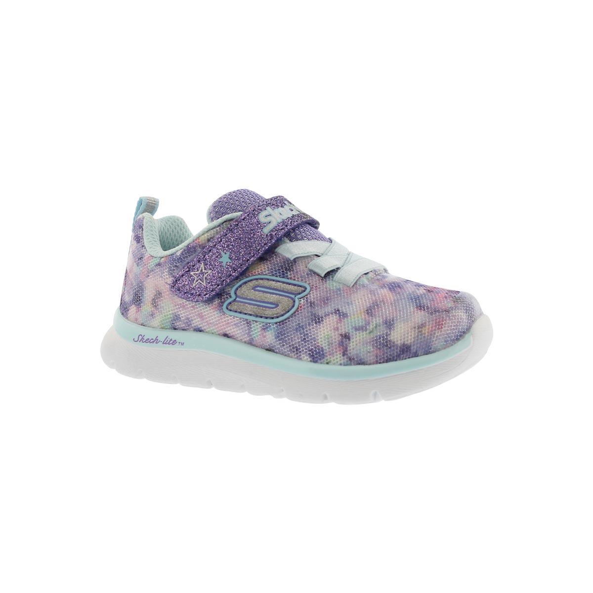 Inf-g Skech-Lite purple floral sneaker