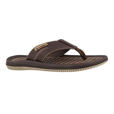 Mns Dunas XV beige/brn thong sandal