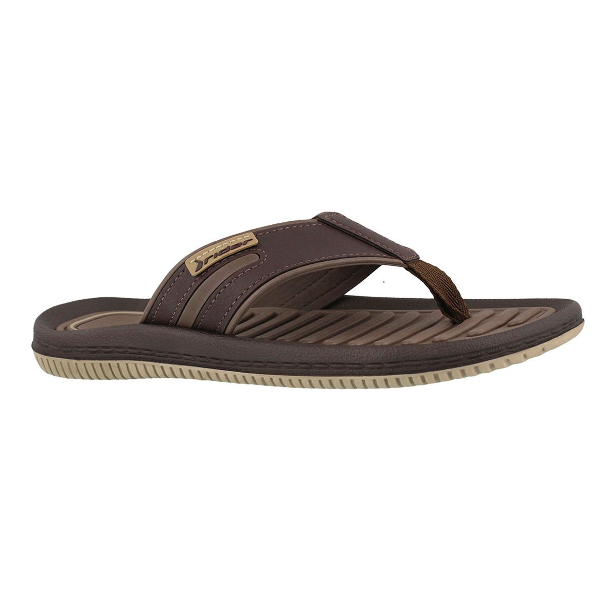 Men's DUNAS XV beige/brown thong sandals