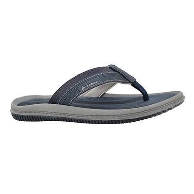 a39c82b8226077 42% OFF Mns Dunas XVI blu gry thong sandal