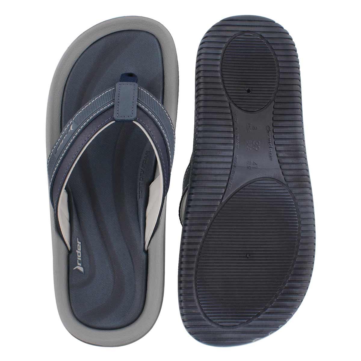 Mns Dunas XVI blu/gry thong sandal
