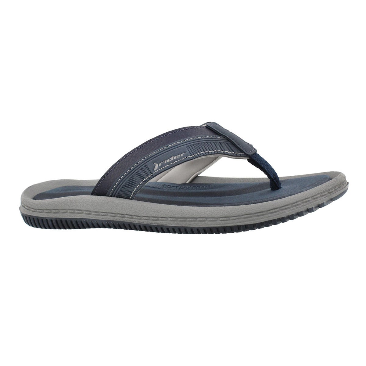 Men's DUNAS XVI blue/grey thong sandals