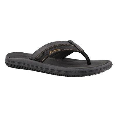 Mns Dunas XVI black thong sandal