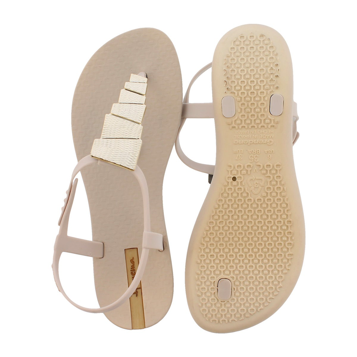 Lds Charm V Sand beige t-strap sandal
