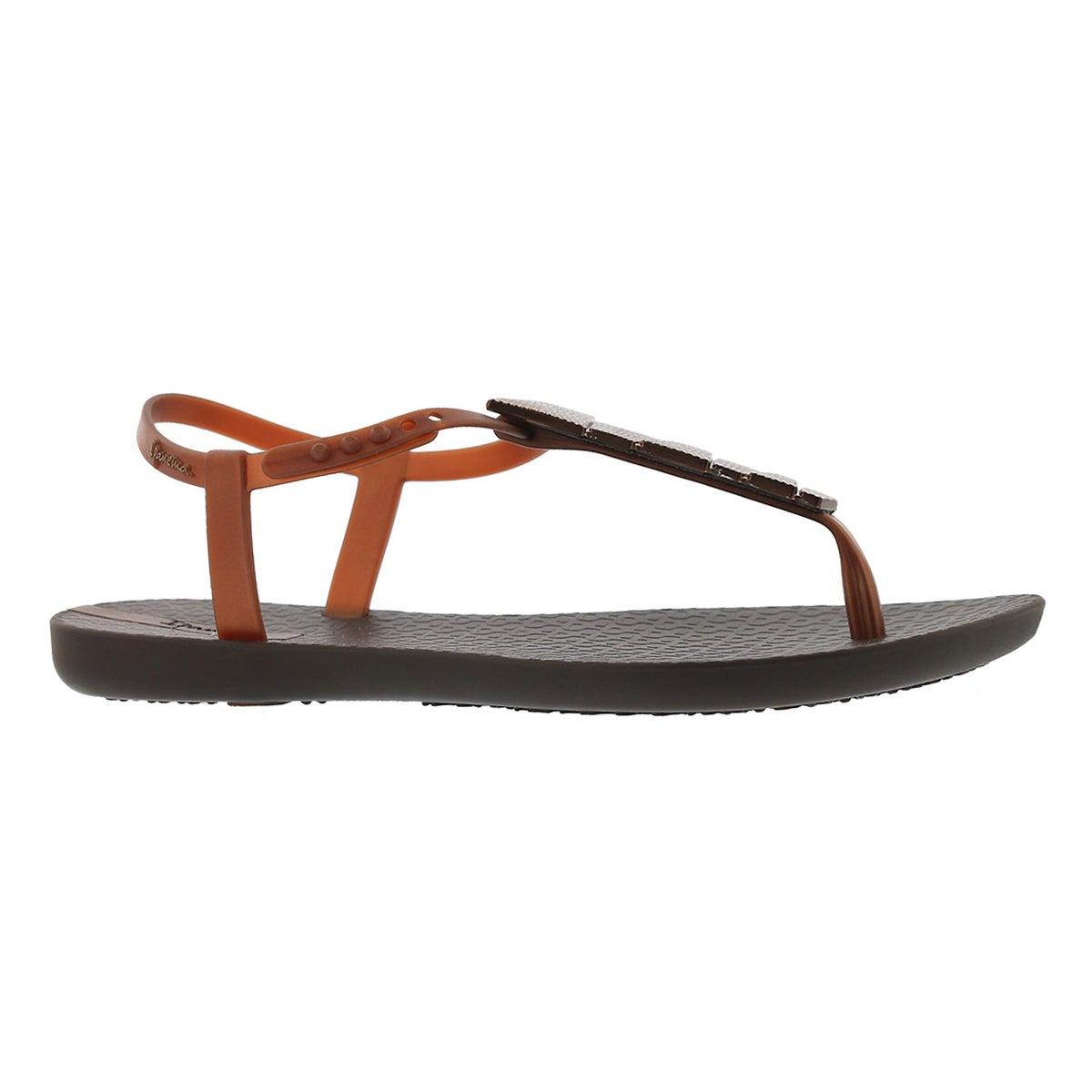 Women's CHARM V SAND brn/brz t-strap sandals