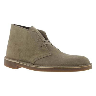 Clarks Men's BUSHACRE sand suede desert boots