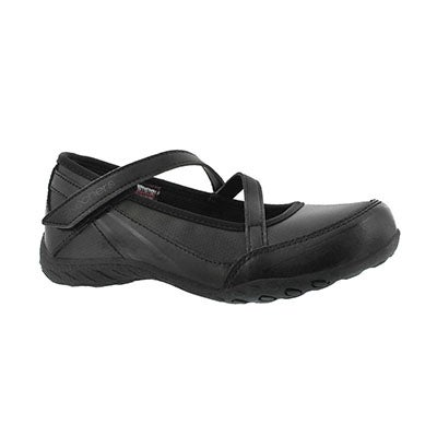 Skechers Girls' SCHOLASTIC SUPERSTAR black Mary Jane shoes