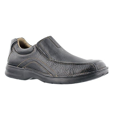 Clarks Men's PICKETT black slip-on casual shoes