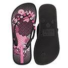 Glrs Anatomic Lovely black flip flop