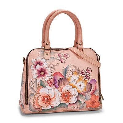Painted lthr Vintage Garden satchel