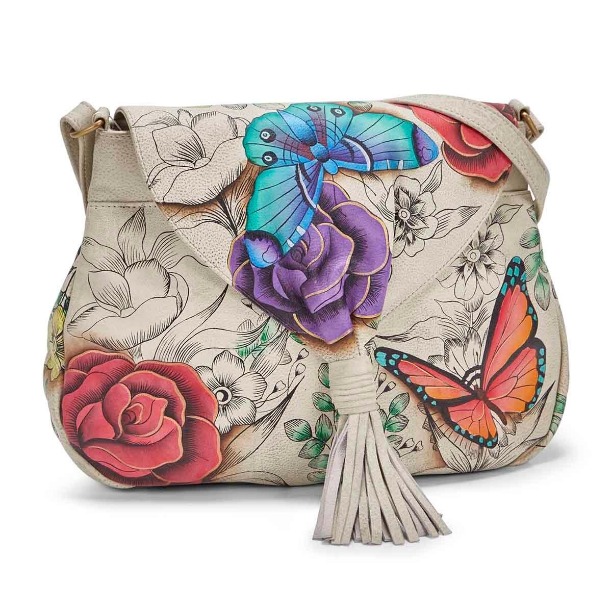 Women's FLORAL PARADISE flap hobo bag