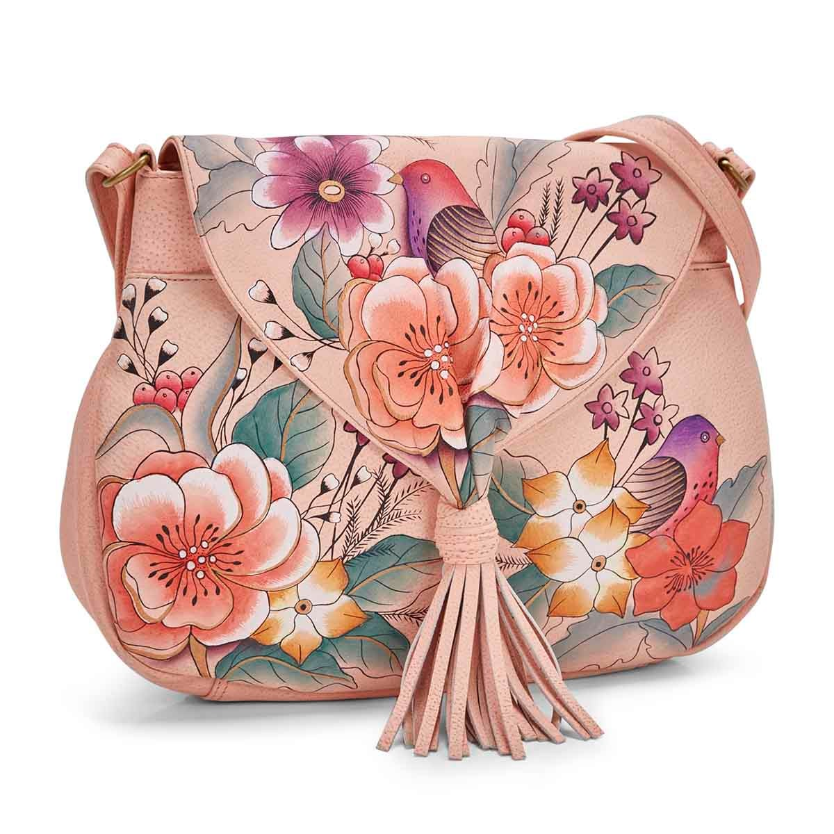 Women's VINTAGE GARDEN flap hobo bag