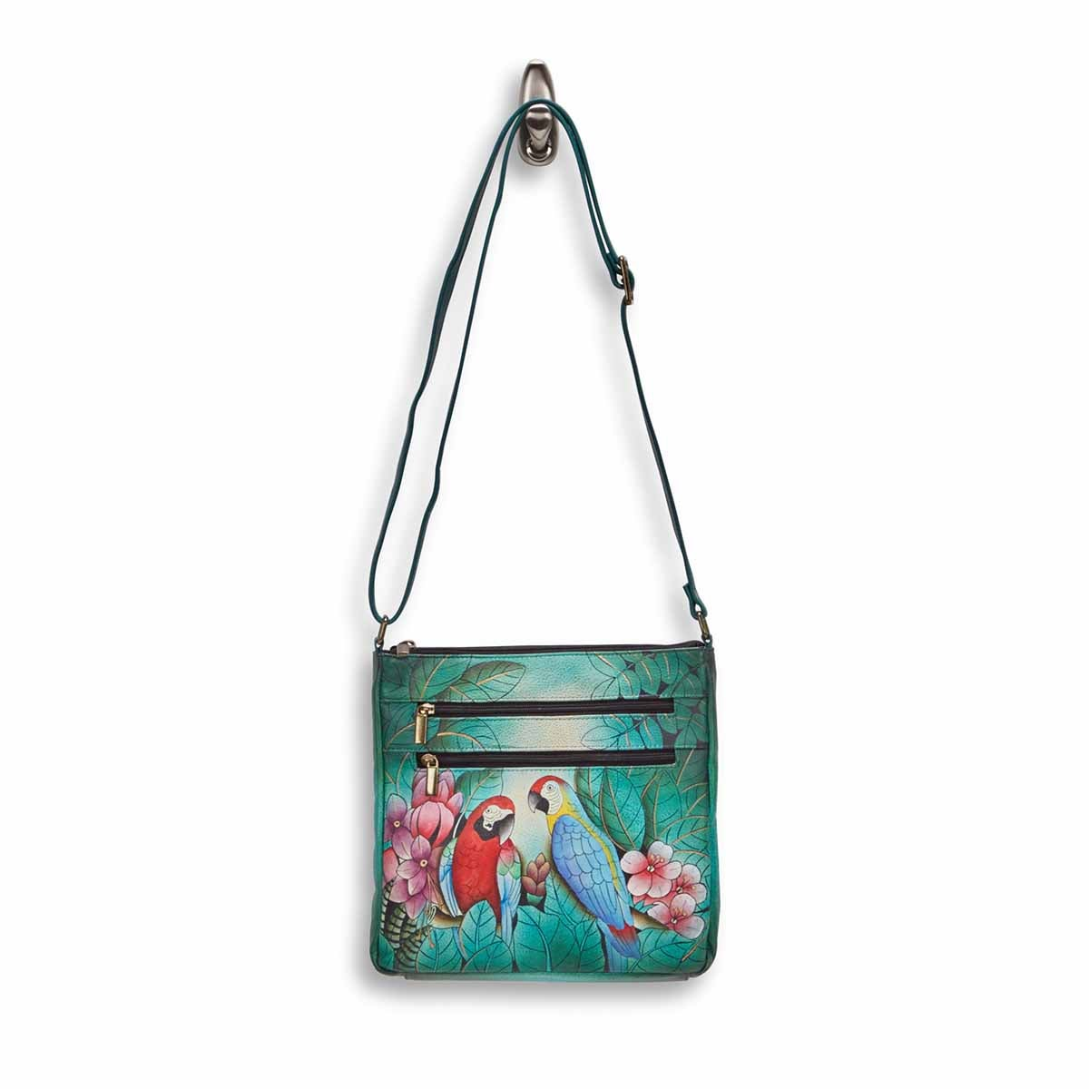 Painted lthr BrazilianBeauties crossbody