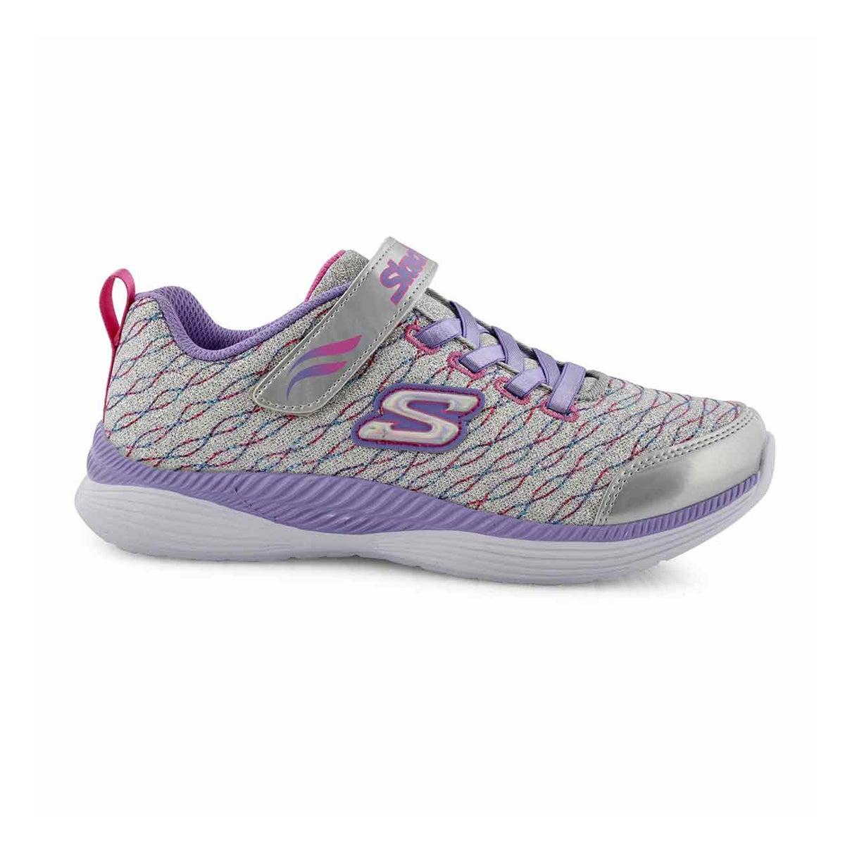 Grls Move 'N Groove slvr/lvndr sneaker
