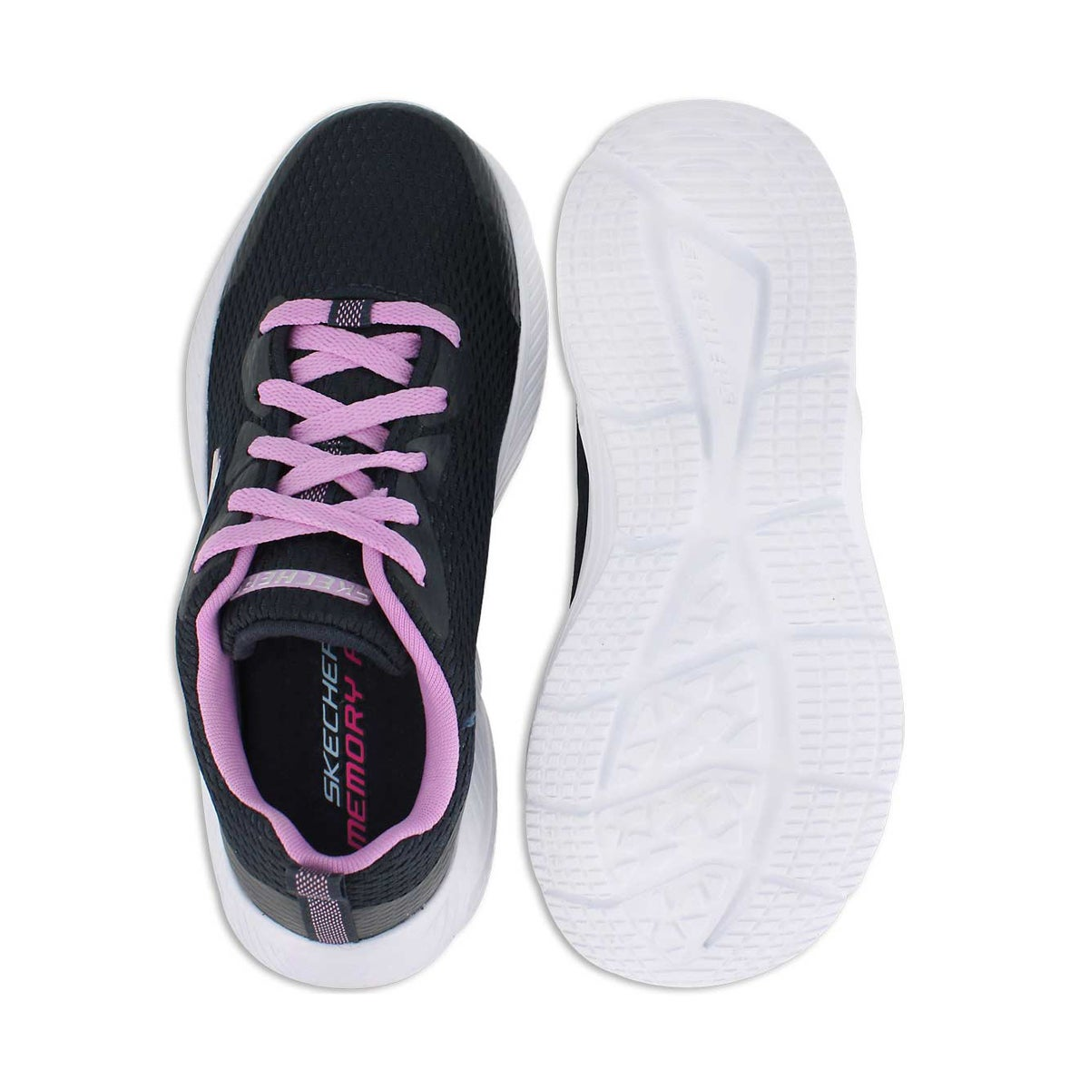 Grls Dyna-Air nvy/lvndr lace up sneaker