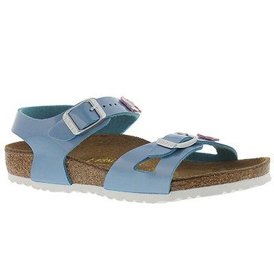 Grls Rio Flowers azzuro sandal - Narrow
