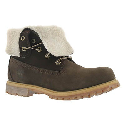 Timberland Women's AUTHENTICS TEDDY brown fold down boots