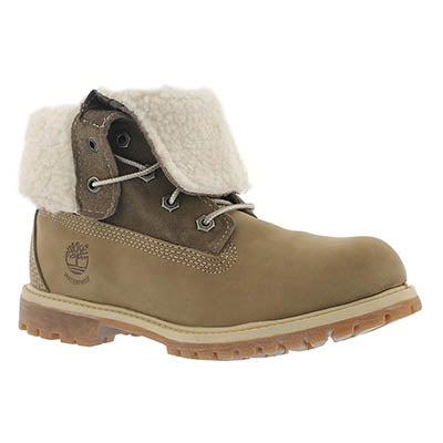 Timberland Bottes AUTHENTICS TEDDY, cuir taupe, femmes