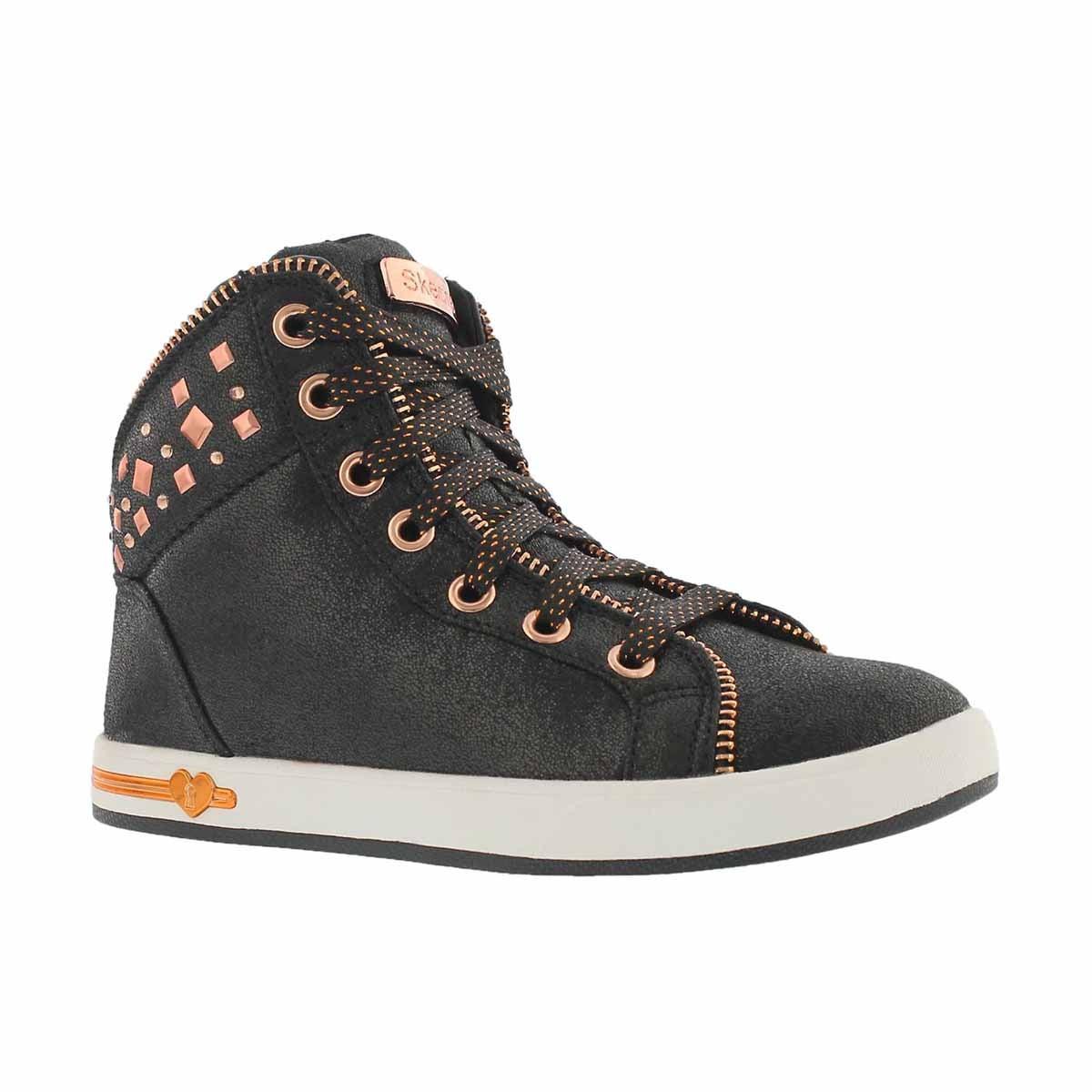 Girls' SHOUTOUTS ZIPSTERS black hi top sneaker