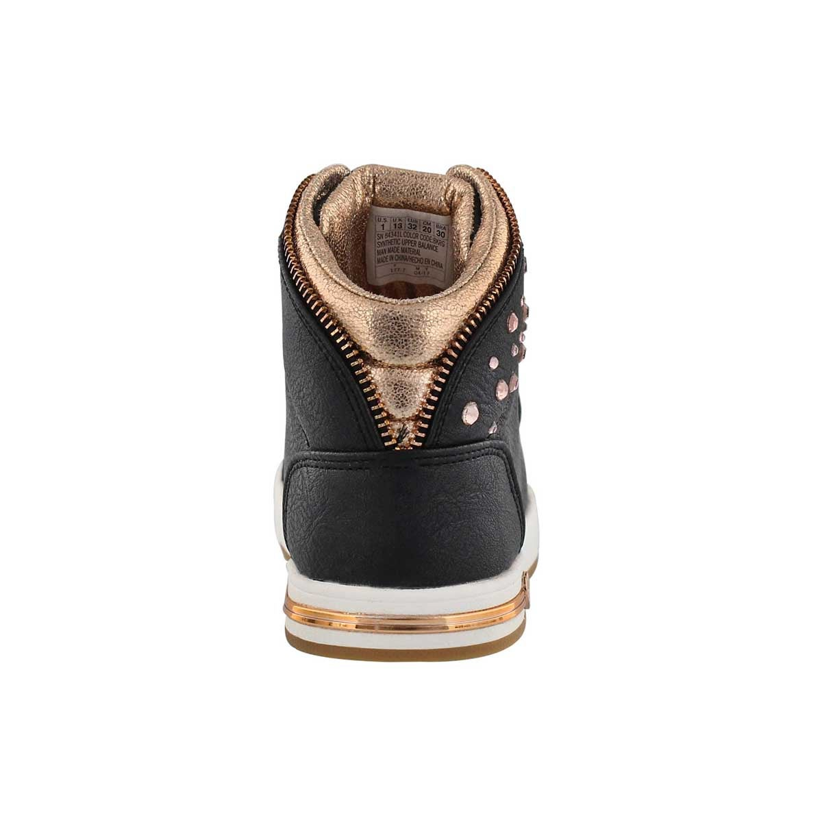 Grls Shoutouts black high top sneaker