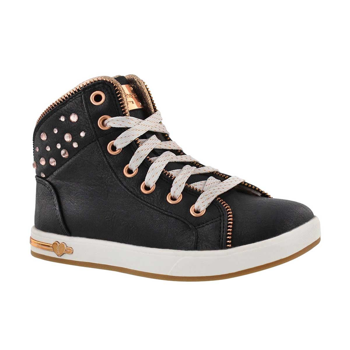 Girls' SHOUTOUTS black high top sneakers