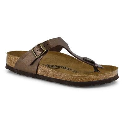 Birkenstock Women's GIZEH toffee birko-flor sandals
