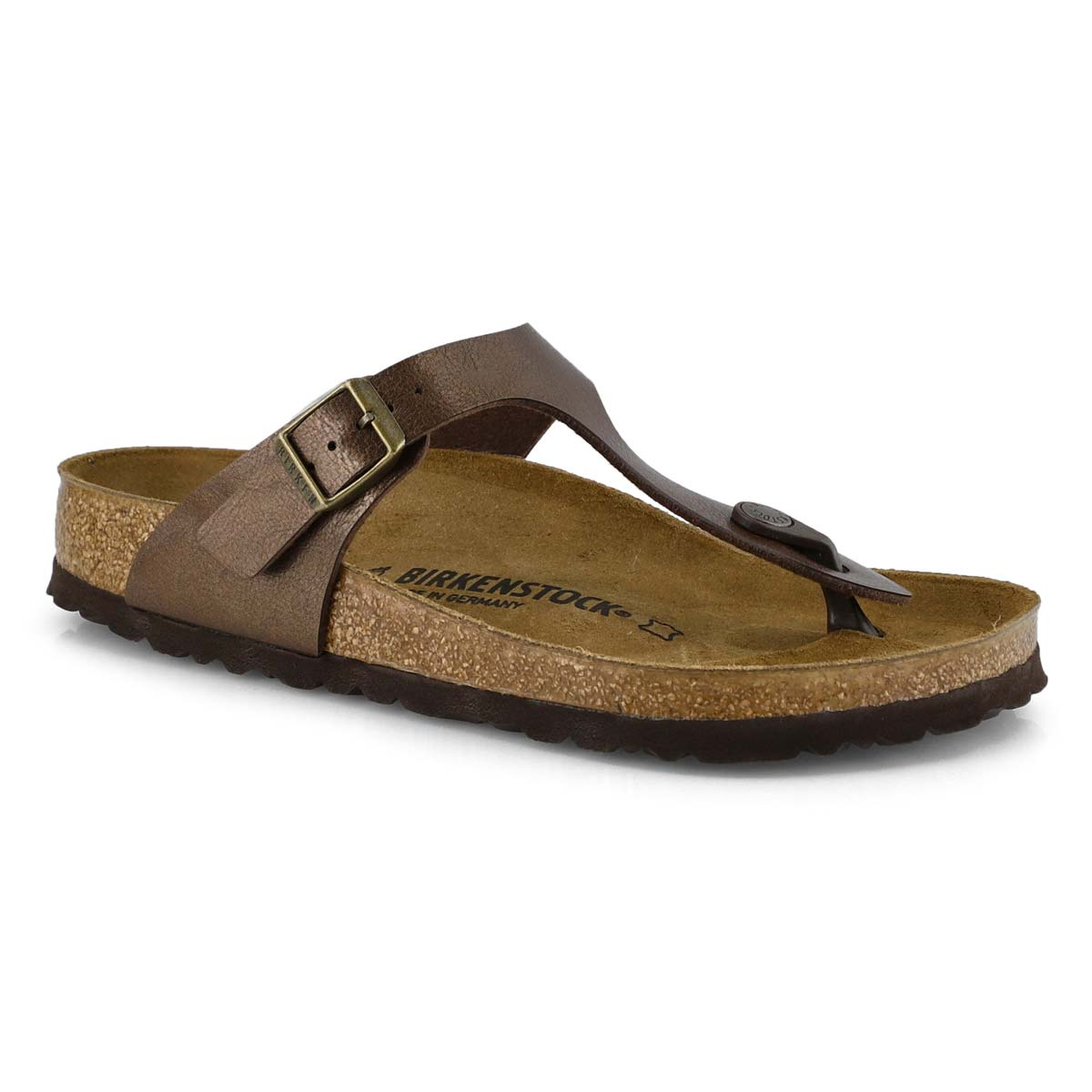 Women's GIZEH toffee birko-flor sandals